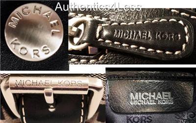 NWT MICHAEL KORS BLACK SIGNATURE BROOKVILLE MEDIUM BOWLING SATCHEL BAG