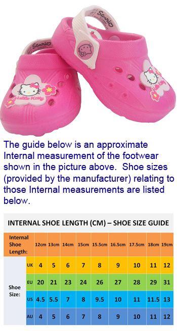 HKJ7 Girls Hello Kitty Croc Style Clog Sandal Sizes 4, 5, 6, 7, 8, 9