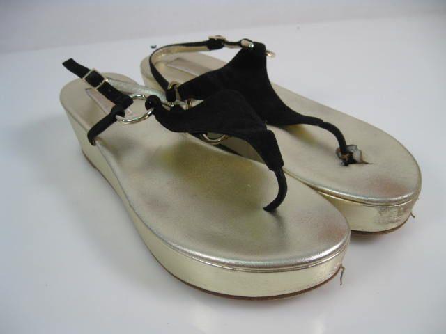 MICHAEL KORS Black Suede Thong Sandals 8