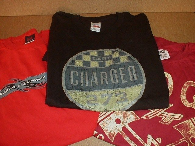 Dodge Dart Charger 273 R/T Rat Hot Rod Racing Club Mopar T shirt Large