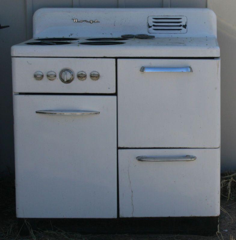 vintage norge gas range stove oven retro